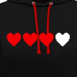 Health points Hoodies & Sweatshirts - Contrast Colour Hoodie