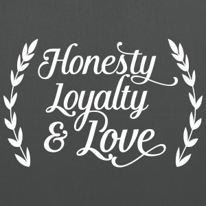 honesty loyalty and love Bags & Backpacks - Tote Bag