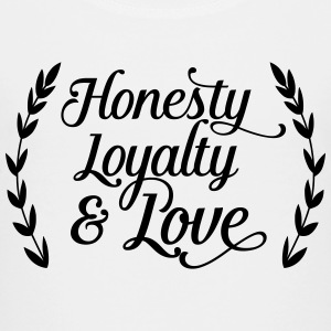 honesty loyalty and love T-Shirts - Teenager Premium T-Shirt