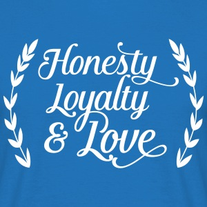 honesty loyalty and love T-skjorter - T-skjorte for menn