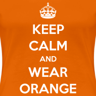 Ontwerp ~ Keep calm and wear orange! Vrouwen shirt voor Koningsdag
