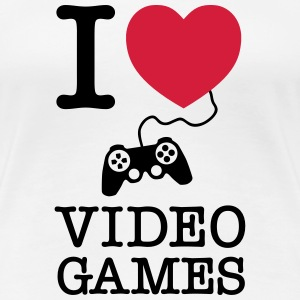 I Love Video Games T-Shirts - Frauen Premium T-Shirt