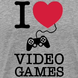 I Love Video Games T-shirts - Herre premium T-shirt