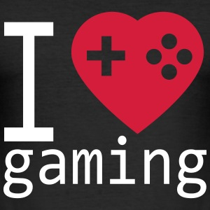 I love gaming T-Shirts - Männer Slim Fit T-Shirt