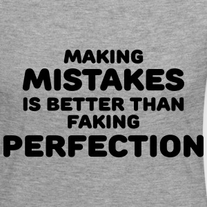 Making mistakes Manga larga - Camiseta de manga larga premium mujer
