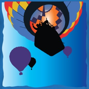 Colourful Ballooning Design, Silhouetted Balloons - Men's T-Shirt