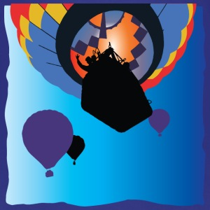 Graphic Hot Air Balloon Flight in Bright Colours - Kids' Premium T-Shirt