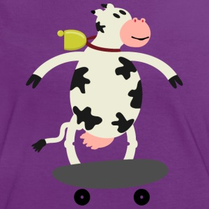 Milch Express / cow on skateboard (ddp) T-Shirts - Frauen Kontrast-T-Shirt