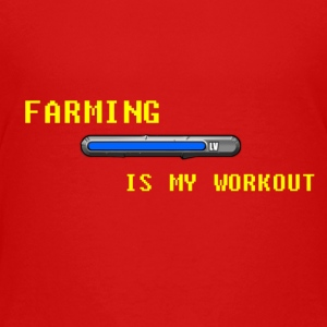 Famring is my work out Shirts - Teenage Premium T-Shirt
