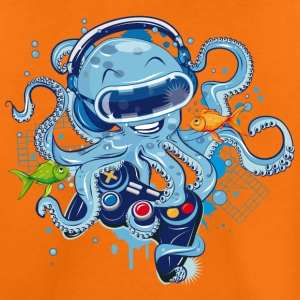 Oktopus mit Gamepad und VR Brille T-Shirts - Teenager Premium T-Shirt