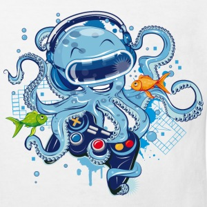 Octopus with gamepad and VR goggles Shirts - Kids' Organic T-shirt