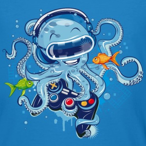 Octopus with gamepad and VR goggles T-Shirts - Men's Organic T-shirt