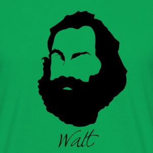 Walt Whitman Silhouette & Hirsute - Men's T-Shirt