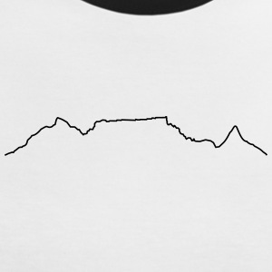Table Mountain shirt noir et blanc - T-shirt contraste Femme