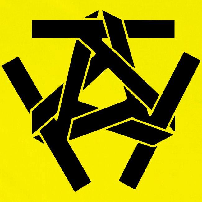 Warnweste , Hinten Logo in Schwarz