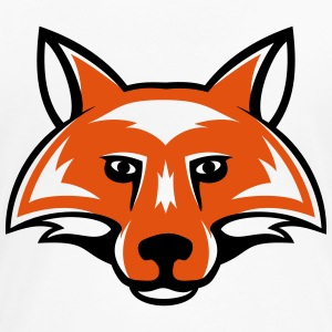 fox_head_simple_2c T-Shirts - Women's Premium T-Shirt