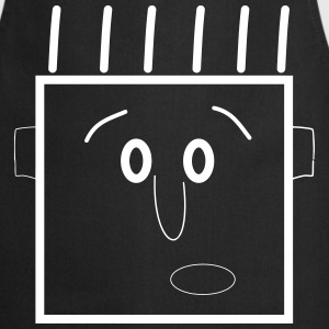 WTF ? Dude Man Guy Head Type Mec Mann Kerl [M]  Aprons - Cooking Apron