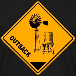 Outback Road Sign T-Shirts - Männer T-Shirt