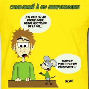 Anniversaire Tee shirts - T-shirt contraste Homme