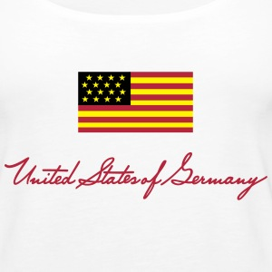 United States of Germany - kleine Fahne  Tops - Frauen Premium Tank Top