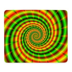Double Spiral in Green and Orange - Mouse Pad (horizontal)
