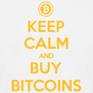 keep calm and buy bitcoins T-Shirts - Männer T-Shirt