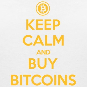 keep calm and buy bitcoins T-Shirts - Frauen T-Shirt mit V-Ausschnitt