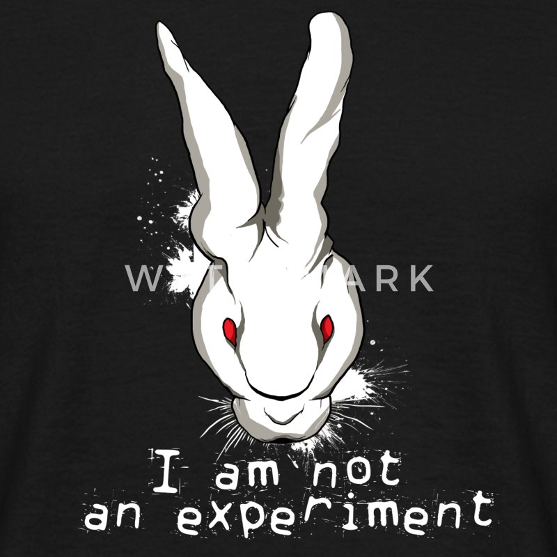 Animal Rights - I am not an experiment!!!! - Men's T-Shirt