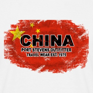 China Flag - Vintage Look T-Shirts - Männer T-Shirt