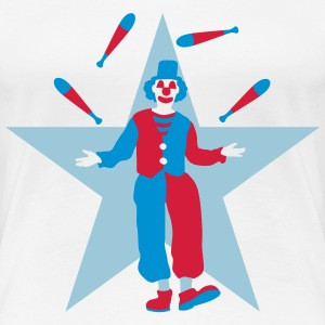 clown_032016b_3c T-Shirts - Frauen Premium T-Shirt