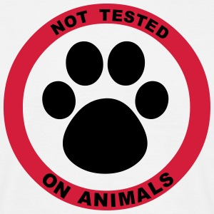 Not Tested on Animals Symbol T-Shirts - Men's T-Shirt