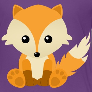 Kawaii Cute Fox Cub Cartoon - Kids' Premium T-Shirt