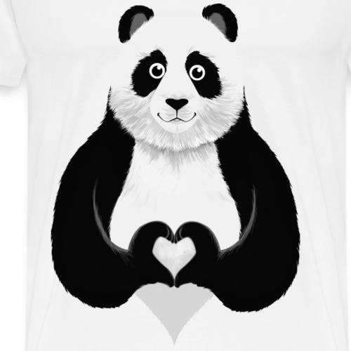 Cute Panda Heart Hand Sign