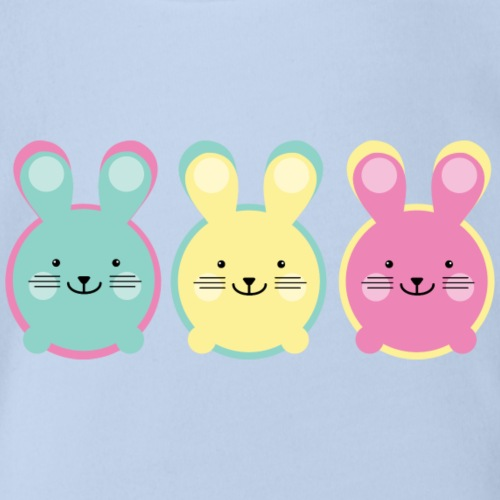 3 süße kleine Hasen