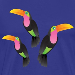 Toucan Illustration T-shirts - Mannen Premium T-shirt