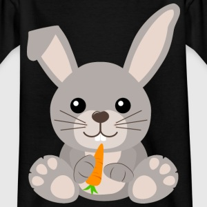 Kawaii Cute Bunny Rabbit Cartoon - Kids' T-Shirt