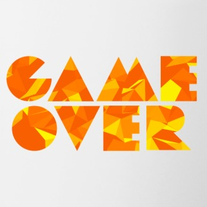Game Over (Low Poly) Bouteilles et Tasses - Tasse bicolore