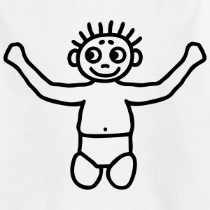 Toddler with diaper Shirts - Kids' T-Shirt