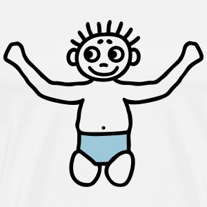 Toddler with diaper - V2 T-Shirts - Men's Premium T-Shirt