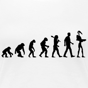 Evolution Of Star Wars T-Shirts - Frauen Premium T-Shirt