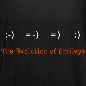 Evolution of Smileys 2C Tops - Frauen Tank Top von Bella