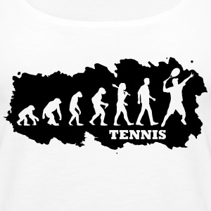 Evolution Of Tennis Tops - Frauen Premium Tank Top