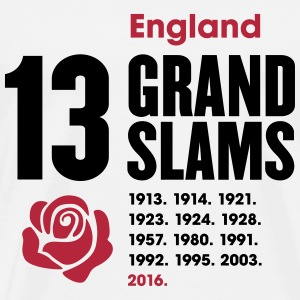 England Rugby Union 13 Grand Slams  - Men's Premium T-Shirt