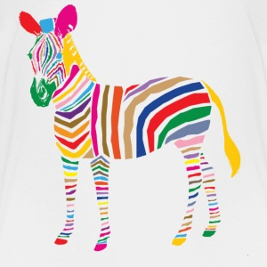 A Touch of Madness - Zebra - Color your Life ! Skjorter - Premium T-skjorte for barn