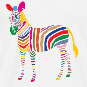 A Touch of Madness - Zebra - Color your Life ! T-shirts - Herre premium T-shirt