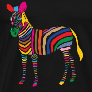 A Touch of Madness - Zebra - Color your Life ! T-shirts - Premium-T-shirt herr