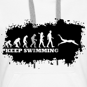 Evolution Of Swimming Pullover & Hoodies - Frauen Premium Hoodie