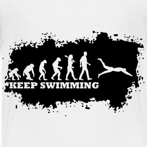 Evolution Of Swimming T-Shirts - Kinder Premium T-Shirt