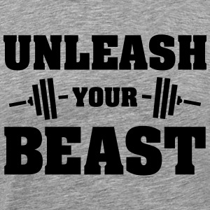 Unleash Your Beast T-skjorter - Premium T-skjorte for menn