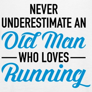 Never Underestimate An Old Man Who Loves Running Tops - Women's Tank Top by Bella